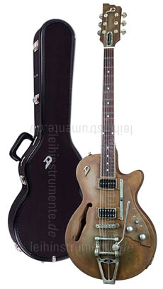 zur Detailansicht E-Gitarre DUESENBERG STARPLAYER TV Custom Shop - Rusty Steel + Custom Line Case