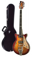 E-Gitarre DUESENBERG ALLIANCE SERIES JOE WALSH - Gold Burst + Custom Line Case