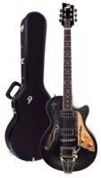 E-Gitarre DUESENBERG STARPLAYER TV - Black Sparkle + Custom Line Case