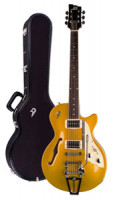 E-Gitarre DUESENBERG STARPLAYER TV - Gold Top + Custom Line Case