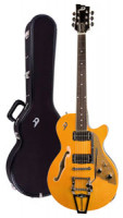 E-Gitarre DUESENBERG STARPLAYER TV - Trans-Orange + Custom Line Case