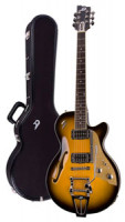 E-Gitarre DUESENBERG STARPLAYER TV - Two Tone Sunburst - Tremolo + Custom Line Case