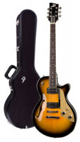 E-Gitarre DUESENBERG STARPLAYER TV - Two Tone Sunburst - Stop Tailpiece + Custom Line Case