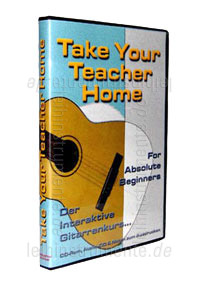 zur Detailansicht Gitarrenanfängerkurs TAKE YOUR TEACHER HOME - For Absolute Beginners - PC CD-ROM
