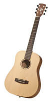 Western-Gitarre CORT EARTH MINI TRAVEL - Dreadnought - Reisegitarre - massive Decke + Tasche