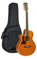 Western-Gitarre TANGLEWOOD TW45/NS E LH - Sundance Series - Fishman Presys Plus EQ - Super Folk - Cutaway - Linkshänder Version